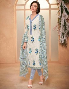 Mumtaz Arts Spring Floral Dress Material