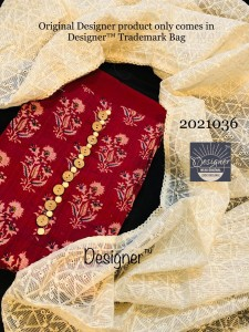 Kota Checks Silk Dupatta With Embroidered (4 Pcs Catalog )