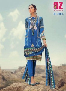 ALZOHAIB ROOHI VOL-2 LAWN COTTON PAKISTANI STYLE DRESS MATERIAL ( 10 PCS CATALOGUE )