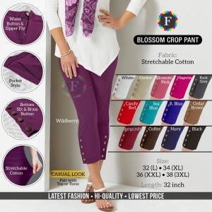 Blossom Crop Pant Stretchable Cotton Ethnic & Western Style ( 12 Pcs Catalogue )