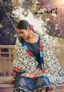 SARGAM PRINTS ZURI PURE ZAM PRINTS WITH EMBROIDERY WORK DRESS MATERIAL ( 6 PCS CATALOGUE )