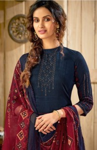 SURYAJYOTI ZARA SATIN COTTON PARTY WEAR SALWAR KAMEEZ