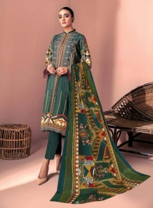 Iris Vol-9 Karchi Lawn Cotton Pakistani Style Dress Material ( 10 pc catalog )