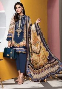 Fair Lady Viva Anaya Lawn Cotton Mul Mul Dupatta  Pakistani Style Dress Material ( 4 Pcs Catalog )