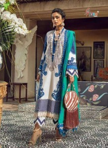 SHREE FAB SANA SAFINAZ PREMIUM LAWN COLLECTION VOL-3 SIFFON dupatta DRESS MATERIAL ( 8 PCS CATALOG )
