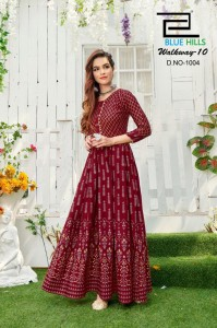 Blue Hills Walkway Vol-10 NX Rayon Kurtis ( 4 Pcs Catalog )