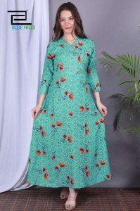 Blue Hills Maze Rayon Printed Kurti Catalogue ( 6 pcs Catalogue )