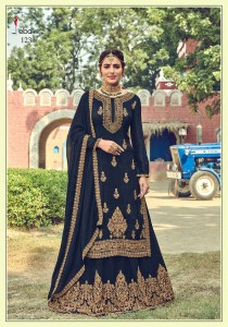 EBA LIFESTYLE KHWAISH GEORGETTE LEHENGA STYLISH HEAVY SUITS ( 4 PCS CATALOG )