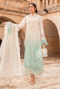 FANCY WEAR PAKISTANI COLLECTION MARIA B SCHIFFLI COLLECTION DRESS MATERIAL ( 4 pcs CATALOGUE )