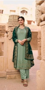 VINAY FASHION KASHEESH NAGMAA GEORGETTE JACQUARD EMBROIDERED WORK PAKISTANI DRESS MATERIAL ( 8 pcs Catalogue )