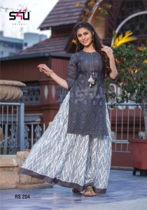 S4U Shivali Retro Skirts Vol 2 Kurti With Skirt ( 5 pcs Catalogue )