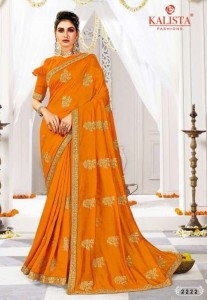Kalista Raas Leela Vichitra Silk Saree Dress Material ( 6 pcs Catalogue )
