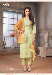 S4U Shivali La Bella Vol 5 Maslin Silk Readymade Suits ( 6 pcs Catalogue )