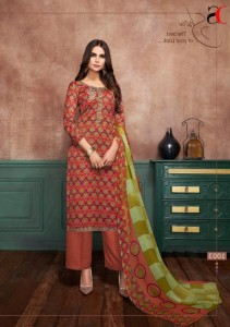 Deepsy Anaya Cotton Fancy Embroidery Work Satin Print Dress Material (  8 pcs Catalogue )