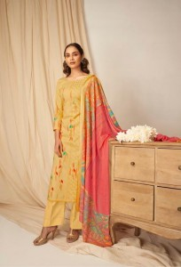 Karachi Print Ikat Superior Orgenic Lawn Cotton Dress Material ( 8 pcs Catalogue )