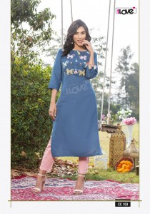 S4U Cotton Candy Rayon Slub Kurti ( 7 pcs Catalogue )