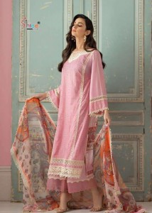 SHREE FABS SOBIA NAZIR LAWN COLLECTION COTTON PAKISTANI DRESS MATERIAL ( 5 PCS CATALOG )