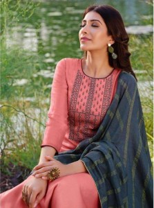 VIONA ASMEE SILK EMBROIDERY WORK DRESS MATERIAL (  7 PCS CATALOG )
