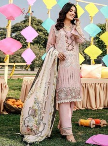 Shree Fab ADan Libaas Schiffli Vol 3 Cotton Dress Material ( 6 pcs Catalogue )
