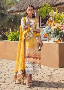 SHREE FAB SANA SAFINAZ PREMIUM LAWN COLLECTION VOL 4 DRESS MATERIAL ( 8 pcs Catalogue )