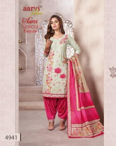Aarvi Special Patiyala Vol-14 Pure Cotton Dress Material ( 12 Pcs Catalog )