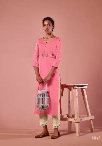 Four Buttons Colors Vol-7 Party Wear Cotton Kurti ( 8 Pcs Catalog )