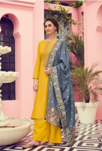 Deepsy Suit Platinum Pure Viscose Cotton Silk With Embroidery Pakistani Suit ( 4 Pcs Catalog )