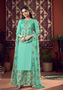 Belliza Designer Sehmat jam Cotton With Heavy Embroidery Dress Material ( 6 Pcs Catalog )