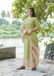 jay vijay raaga vol-5 Bemberg Cotton Satin Dress Material ( 6 Pcs Catalog )